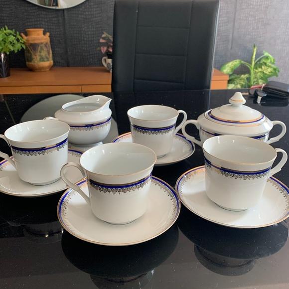 Vintage Polish Tirschenreuth Bavaria coffee set